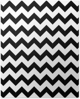 Poster Géométrique abstraite, seamless, en zigzag. vecteur