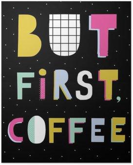 Poster Hand belettering offerte. Hand getrokken typografie poster