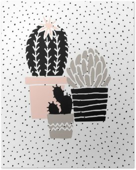 Hand Drawn Cactus Poster Poster