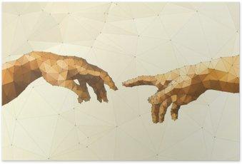 Poster HD Abstract main illustration vectorielle de Dieu