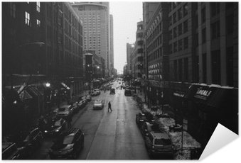 Poster HD Black and White Chicago Streets