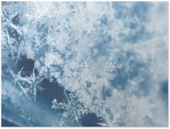 Póster HD Copos de nieve escarchados