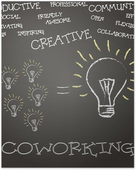 Poster HD Coworking Concepto