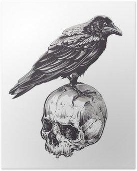 Poster HD Crow Skull