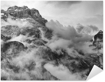 Poster HD Dolomites Mountains Black and White