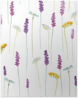 Poster HD Fleurs Aquarelle motif