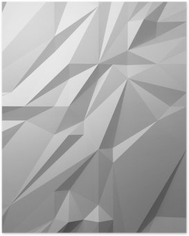 Poster HD Fond blanc abstrait low poly