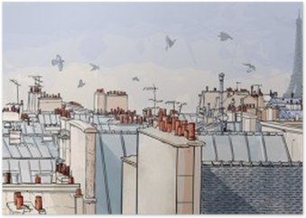 France - Paris roofs Poster HD