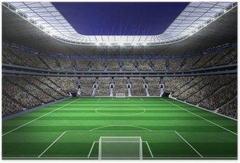 Poster HD Grand stade de football avec des lumières