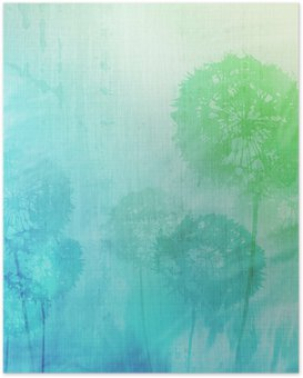 Poster HD Grunge background avec des pissenlits