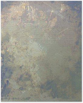 Poster HD Grunge fond coloré. Avec différents modèles de couleur: jaune (beige); marron; bleu; gris