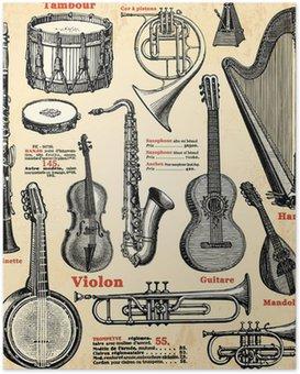 Poster HD Instruments de musique