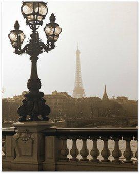 Poster HD Lampadaire sur le pont d'Alexandre III à Paris, France