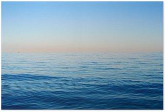Poster HD Les vagues sur un fond de ciel bleu