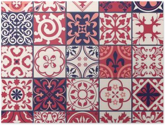 Moroccan tiles Pattern Poster HD
