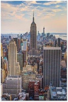 New York City at Dusk Poster HD