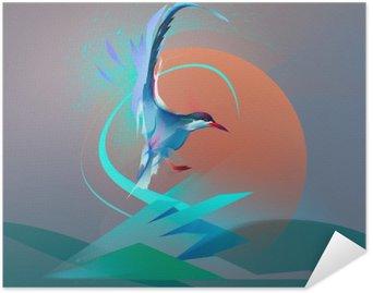 Poster HD Oiseau mouette sterne
