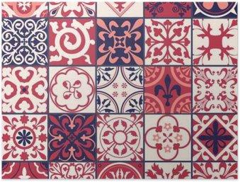 Póster HD Patrón de azulejos marroquíes