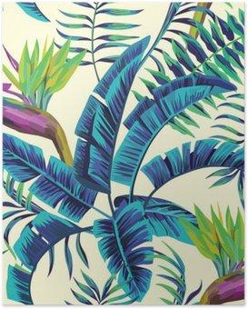 Poster HD Peinture exotique tropicale