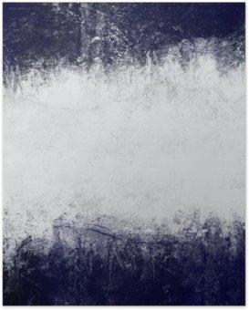 Poster HD Résumé de fond peint en bleu foncé et blanc avec un espace vide pour le texte