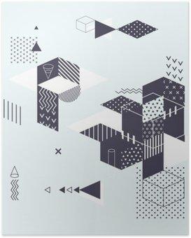 Poster HD Résumé fond géométrique moderne