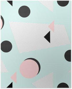 Poster HD Rétro motif géométrique.