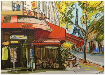 Poster HD Rue de Paris - illustration