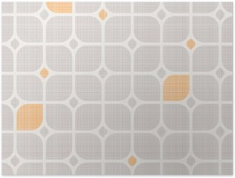 seamless geometric pattern Poster HD
