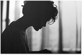 Poster HD Silhouette girl portrait
