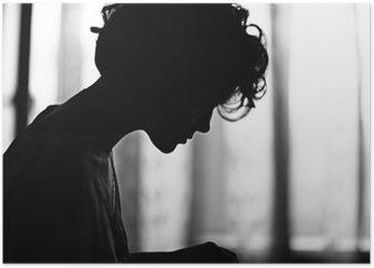 silhouette girl portrait Poster HD