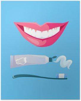 Póster HD Sonrisa con dientes blancos