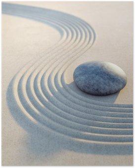 Poster HD Stein und Wellen im Hochformat de sable