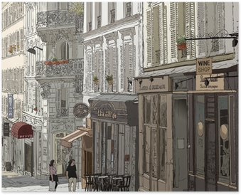 Street in Montmartre Poster HD