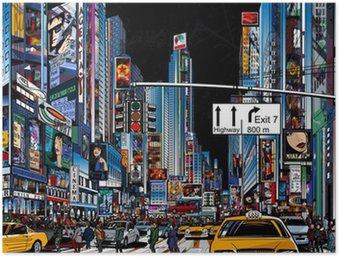 street in New York city Poster HD