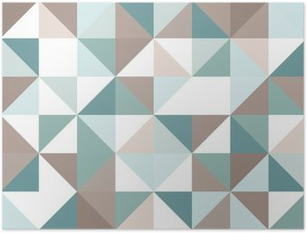 Triangle seamless pattern Poster HD