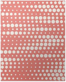 Poster HD Vector illustration sans soudure en demi-teinte de fond dans des couleurs pastel rouge