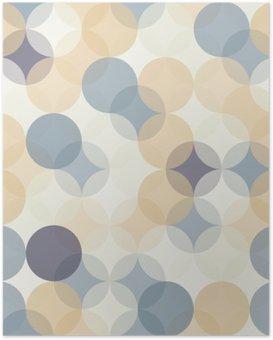 Poster HD Vector modernes colorés cercles de motif géométrique sans soudure, la couleur de fond géométrique abstrait, papier peint impression, rétro texture, design de mode hipster, __