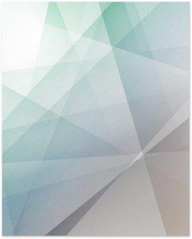 Poster Hipster moderne transparante geometrische achtergrond