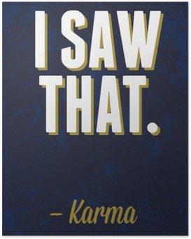 Poster Illustration vectorielle de typographie.