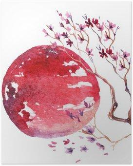 Poster Japan Cherry blossom.