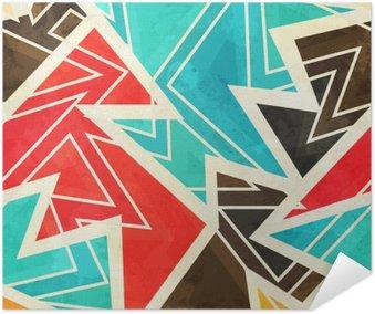 Poster Jeugd geometrische naadloze patroon met grunge effect
