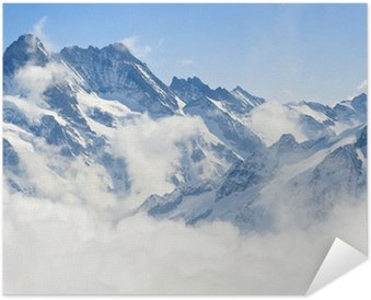 Poster Jungfraujoch Alps mountain landscape