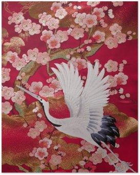 Poster Kimono 鹤
