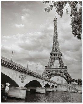 Poster La tour Eiffel vue depuis la Seine au format carré