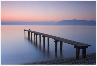 Poster Lac Léman, Suisse