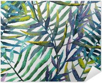 Poster Lämnar abstrakt mönster bakgrundsbild vattenfärg