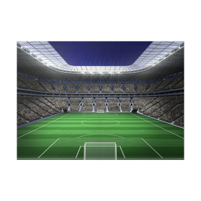 Large football stadium with lights Poster • Pixers® • We ...