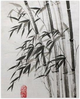 Poster Le bambou est un symbole de longévité et de prospérité
