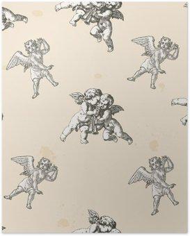 Poster Les anges pattern - modèle inclus dans la boîte de nuanciers