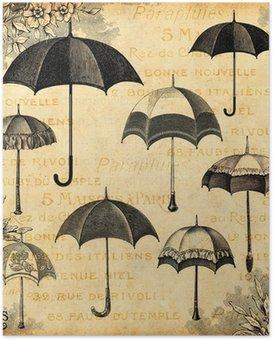 Poster Les parapluies